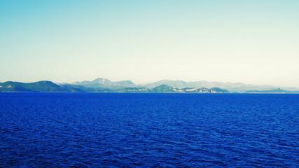 Panorama of Peljesac Peninsula, near Dubrovnik, Croatia.