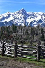 Mountains and Fence