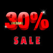 30 percent off, 30 sale discount, 30% sale text- vector EPS10
