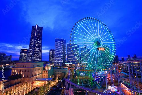 Fotobehang Tokyo 黄昏のみなとみらい