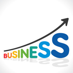 creative business growth graph design concept vector