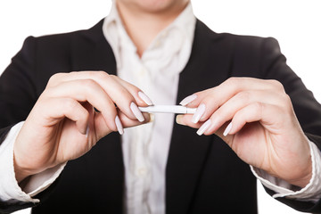 businesswoman a cigarette