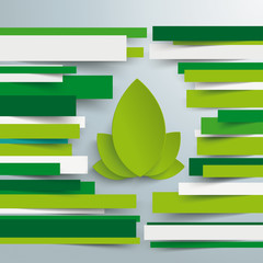 Brochure Eco Leaves Paper Lines