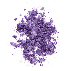Crushed purple eye shadow