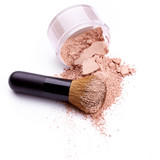 Fototapety Face powder with brush