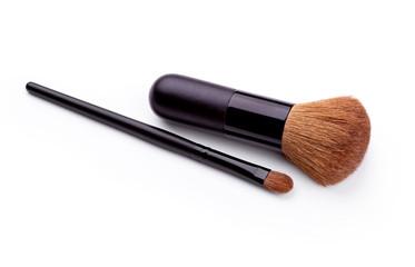Cosmetic brushes isolated on white background