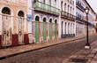 Leinwanddruck Bild - Sao Luis, brazilian colonial city