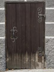 simple old door in the city of Ulm