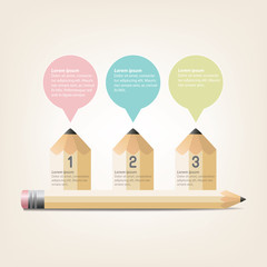 Education Infographics pencil Template Design