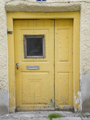 yellow ancient door