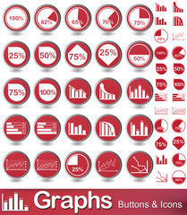 Graphs  Buttons and icons
