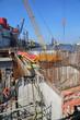Brückenbau im Hafen