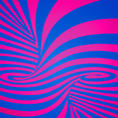 Abstract background, illusion, unreal spiral, pink and blue
