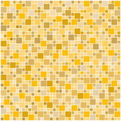Seamless yellow square tiles pattern