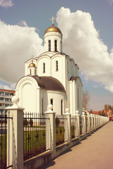 church of st. vladimir on summer day