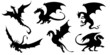 dragon silhouettes - 65021865