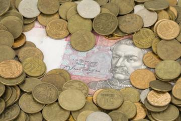 Russian and Ukrainian money.