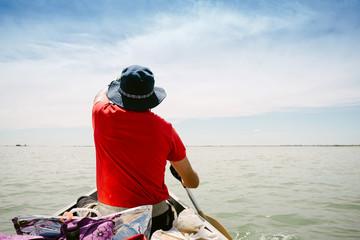 navigate by canoe
