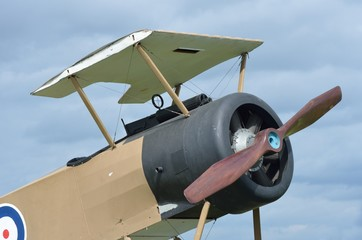 Front of RAF world war one plane