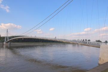 Suspension bridge in Osijek