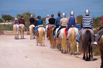 Promenade à cheval, en Camargue.