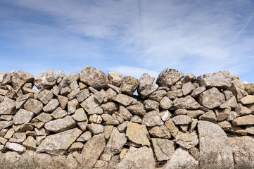 Old stone wall in the ranch