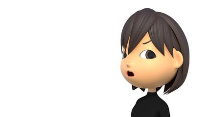 怒っている女性の表情