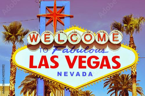 Foto op Canvas Las Vegas Welcome to Fabulous Las Vegas sign