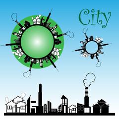 Vector cityscape