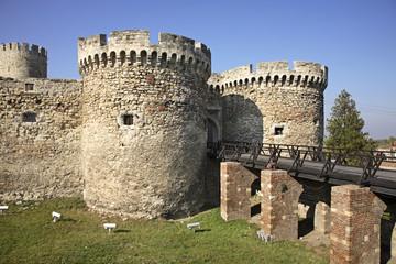 Zindan Gate in Kalemegdan fortress. Serbia