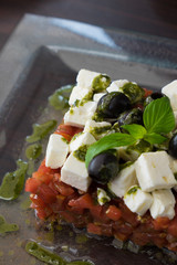 Appetizing greek salad