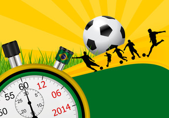 the countdown to the World Cup Brazil 2014