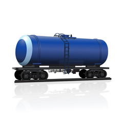 railway tank for transportation of petroleum products