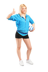Professional female handball player