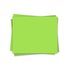 the green blank sheets of papers