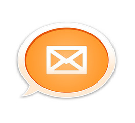 the speech bubble with envelope icon