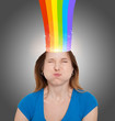 Head With Rainbow