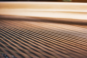 Strings inside of a piano