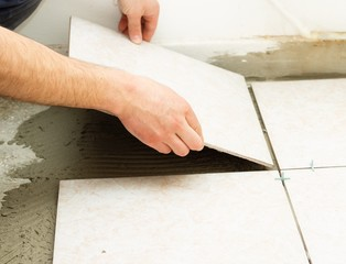 Ceramic Floor Tile Application