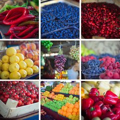 Summer vegetables collage