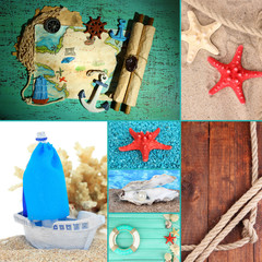 Sea theme collage