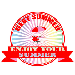 enjoy your summer stamp