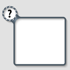 vector text frame with question mark and arrows