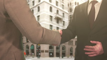 Handshake on Street