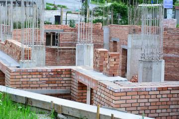 House building - construction site