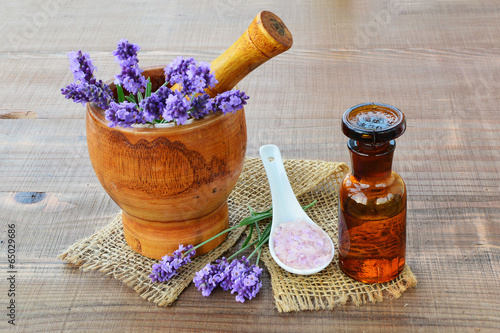 Lavender procucts, spa concept