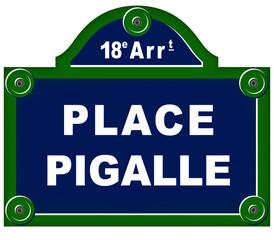 Plaque de rue place pigalle