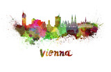 Vienna skyline in watercolor