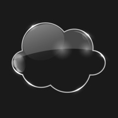 Vector Illustration of Glass Cloud Icon