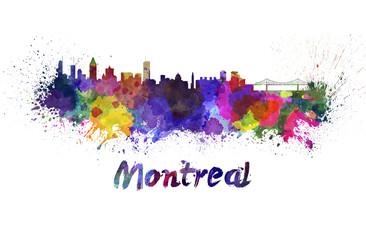 Montreal skyline in watercolor